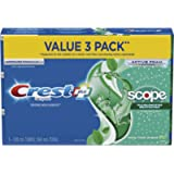 Crest Complete Whitening Plus Scope Minty Fresh Toothpaste, Pack Of 3, 360 Milliliters