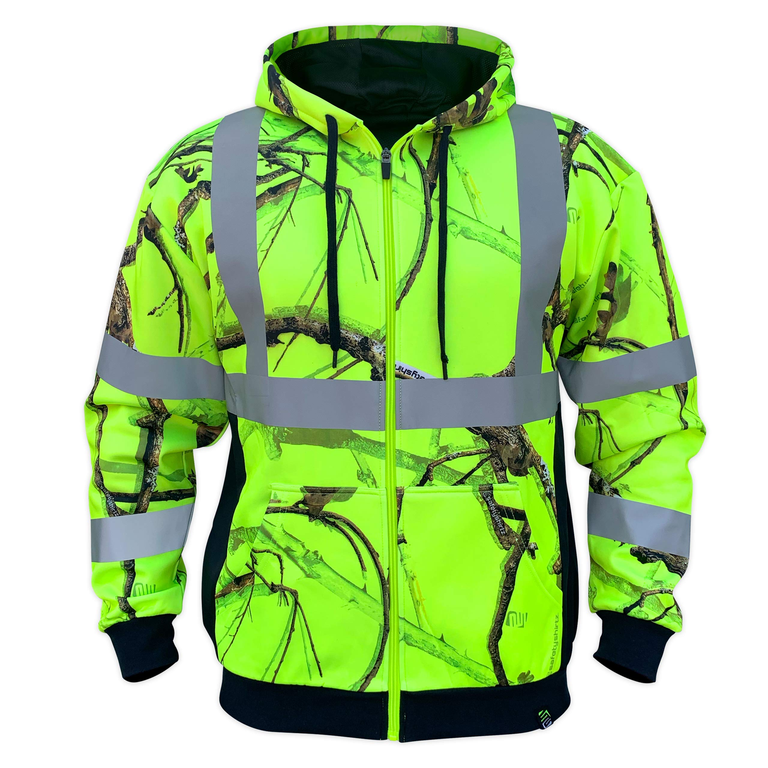 SafetyShirtz SS360 Backwoods Safety Zip-UP Hoody ANSI Class 3 2XL
