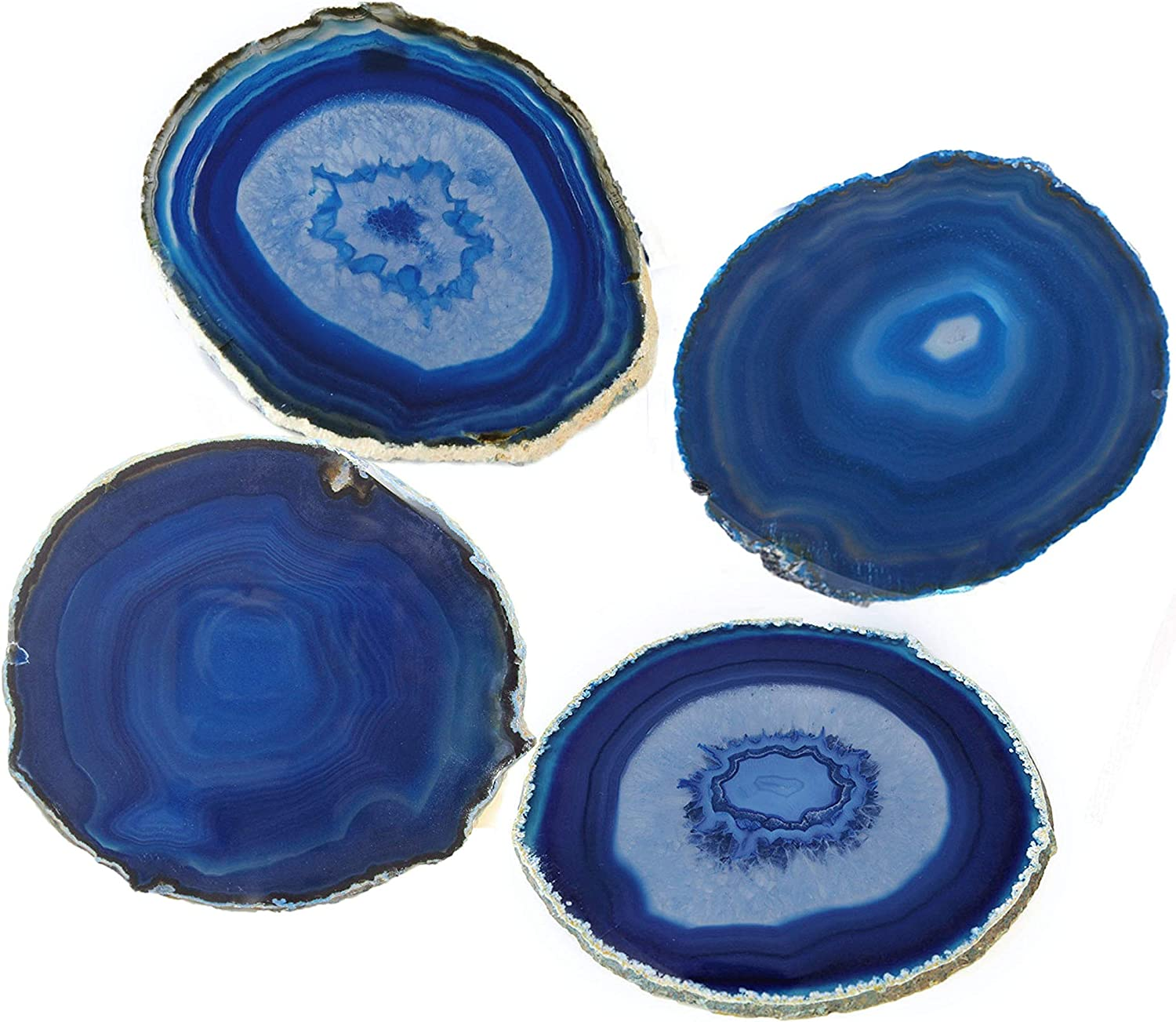 Irregular Agate Slice Crystal Coaster Cup Mat Wine Tea Placemat Crafts Green