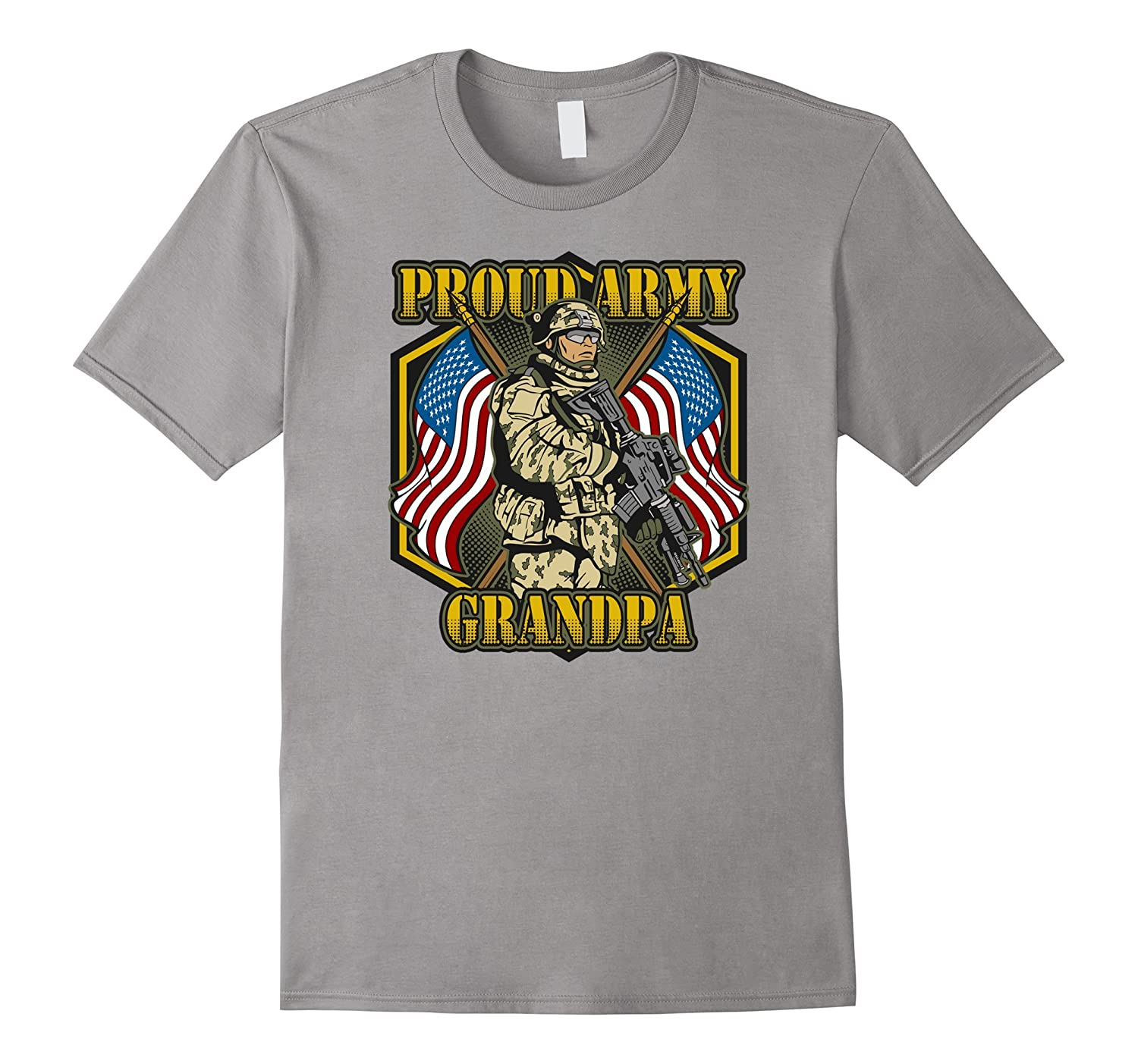 Men's Proud Army Grandpa of a Soldier Military T-shirt-Teevkd