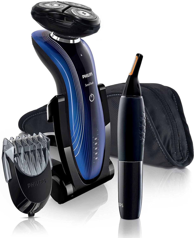 Philips SHAVER Series 7000 SensoTouch RQ1187/45 - Afeitadora (2 año(s), Negro, Azul, Carga, AC/Batería, Ión de litio, 1 h): Amazon.es: Hogar