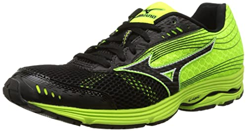 Shop Mizuno Wave Sayonara 3 Mens Running Shoes Black / Neon Mint J1GC1530 09