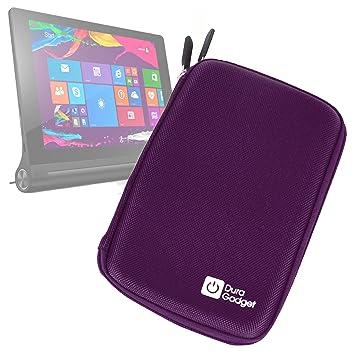 DURAGADGET Funda Rígida Morada para La Tablet Lenovo Yoga 2 (8