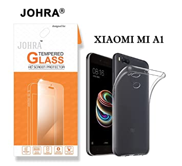 214705827c7 Johra Xiaomi Mi A1 Tempered Glass  Xiaomi Mi Android One   Covers Only Flat