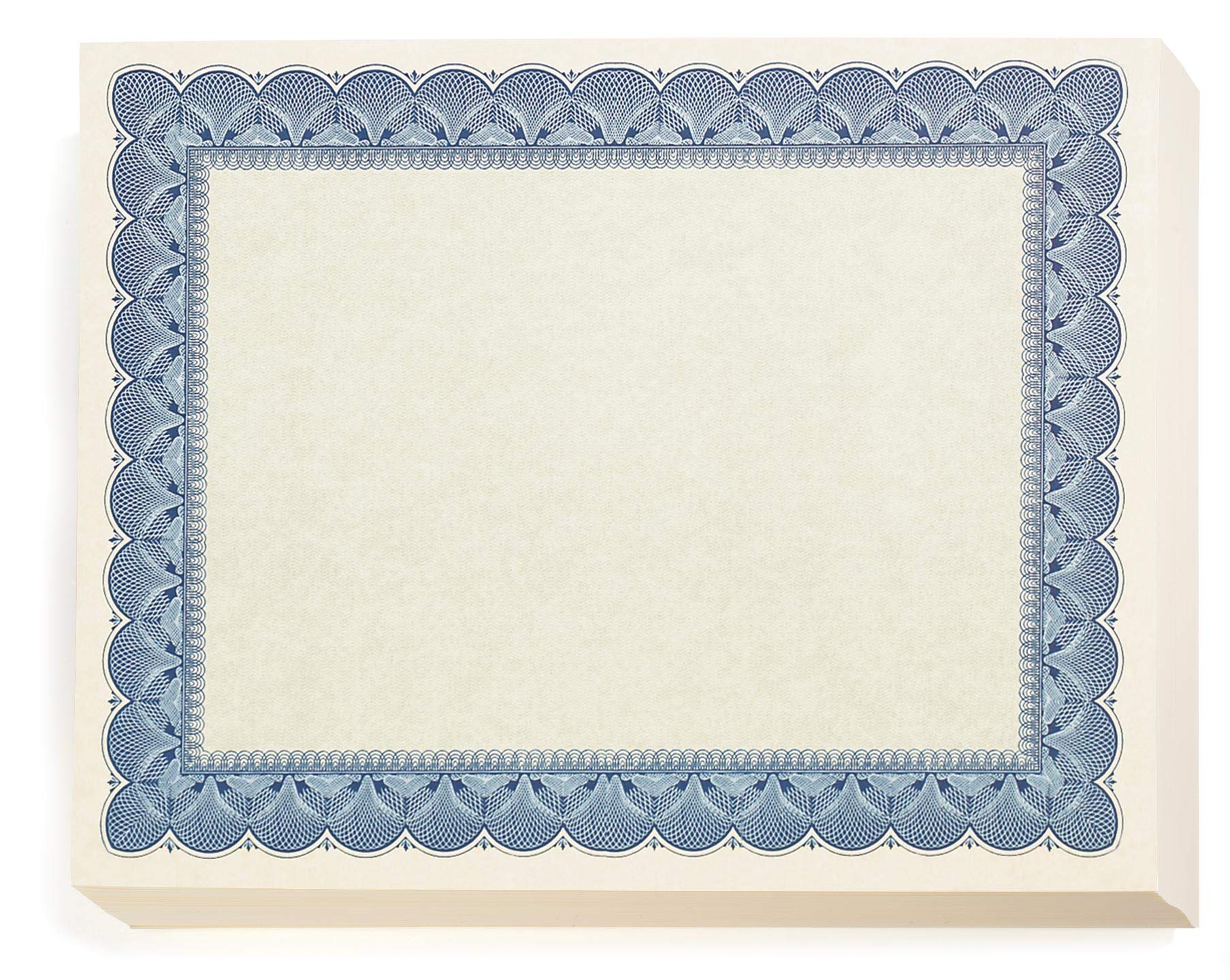 Traditional Blue Parchment Certificates, Blue on Parchment, 8.5 x 11, 100 Count by PaperDirect