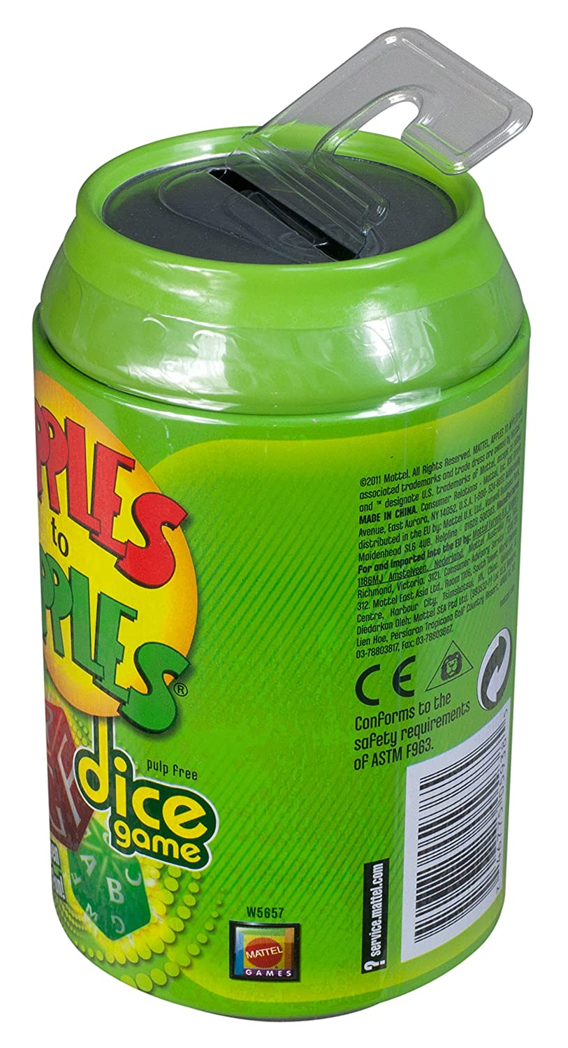 Apples to Apples Dice Game Mattel W5657