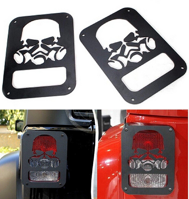 Protector de luz trasera para faros traseros, color negro, 2 unidades Beside_Auto