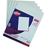 Hilroy Letter Pads, Narrow Ruled, 8-3/8 X 10-7/8 Inches, 96 Sheets Per Pad, 5 Pack (51240)