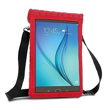 Funda Tablet 10 Pulgadas de Neopreno (Gris) USA GEAR. Carcasa Universal Protectora con Pantalla Transparente Tactil y Cinta para llevarla al Hombro. ...