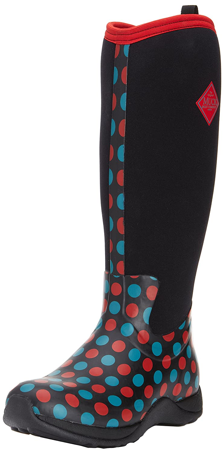 MuckBoots Women's Artic Adventure Snow Boot B00IHWAGQ6 7 B(M) US|Red/Blue Polka Dot Print