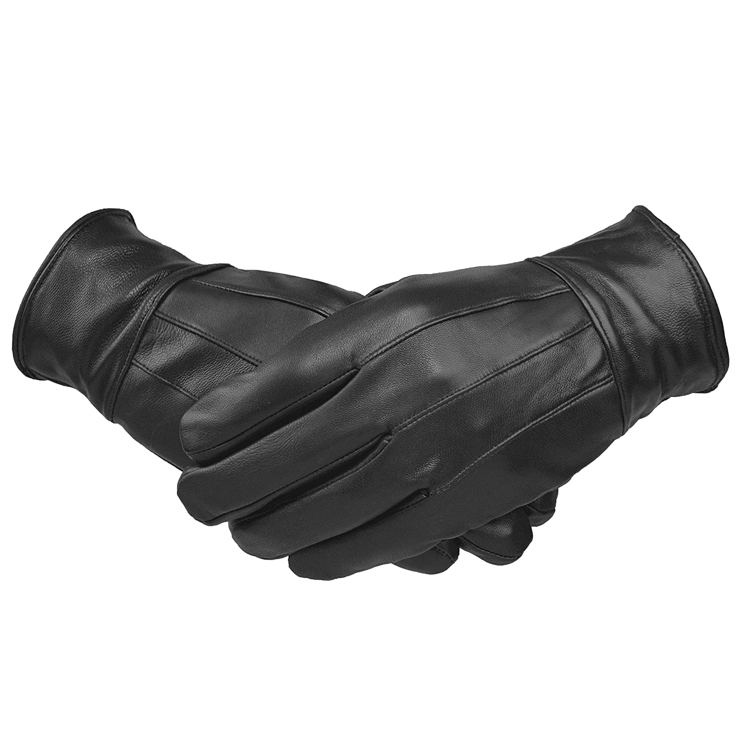 e7697dd6b6a Mens Designer Genuine Leather Touch Screen Thermal Winter Warm Driving  Gloves