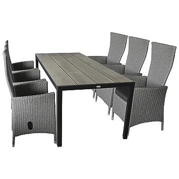 wohaga® Mobiliario de jardín Asiento de 7 piezas (Asiento ...