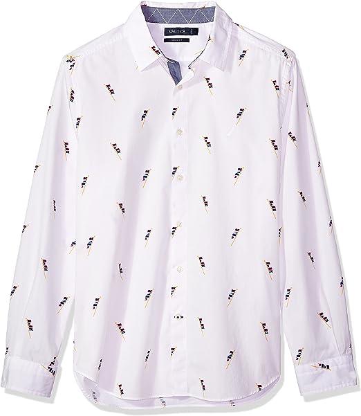 Nautica Unisex adulto W81207 Manga Larga Camisa de botones ...