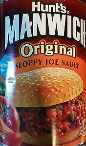 Hunt's, Manwich, Original, Sloppy Joe Sauce, 15.5oz Can (Pack of 6)