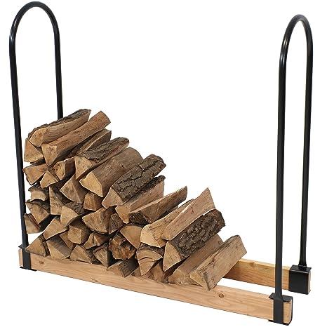 Com Sunnydaze Steel Adjule Firewood Log Rack Bracket Kit Adjusts Up To 16 Feet Wide Garden Outdoor