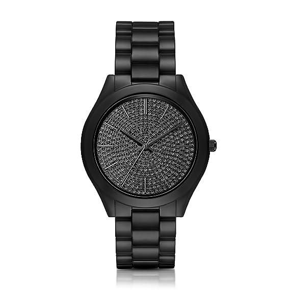 Michael Kors Womens Slim Runway Black Watch MK3449: Michael ...