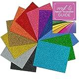 Siser Glitter Heat Transfer Vinyl Sheets with