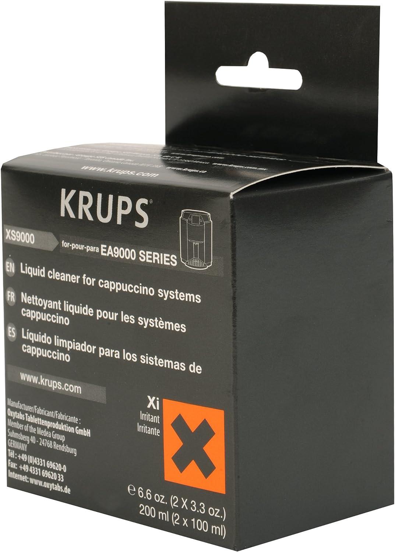 Amazon.com: Krups xs9000 líquido limpiador para cafeteras ...