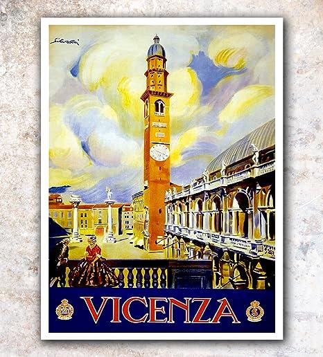 "Italy italian sicilia  Vintage Illustrated Travel Poster art Print painting 36/"""