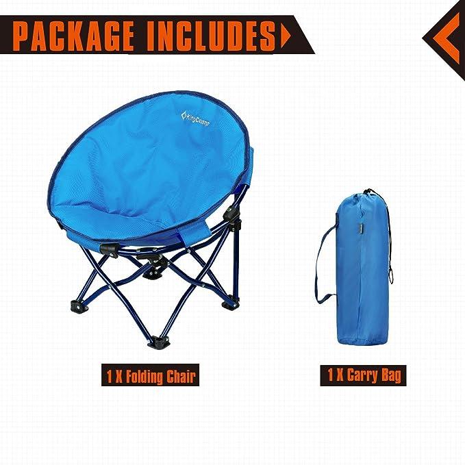 Amazon.com: KingCamp – Silla estilo platillo, redonda ...