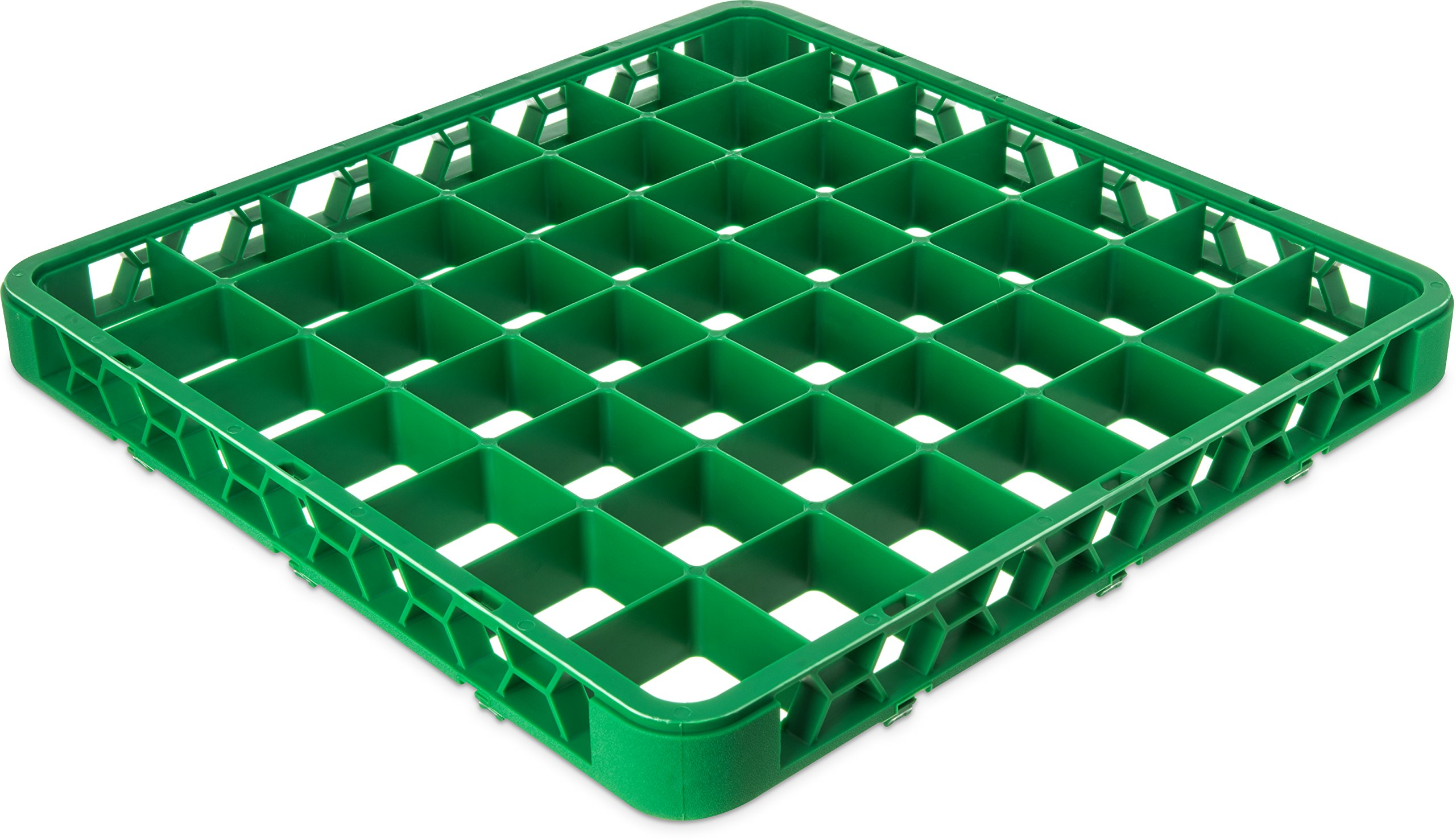 Carlisle RE49C09 OptiClean 49 Compartment Glass Rack Extender, 2.38'' Compartments, Green (Pack of 6)