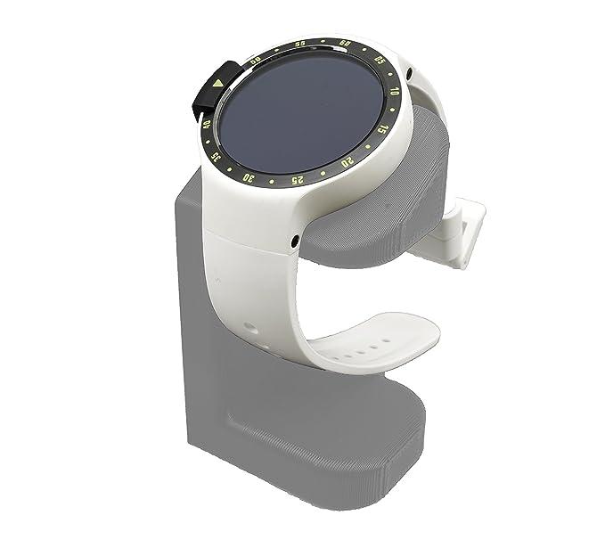 Artifex Design Stand Configured for TicWatch E and S Smartwatch, Charging Stand, Artifex Charging Dock Stand for Tic Watch E and S only (Silver)