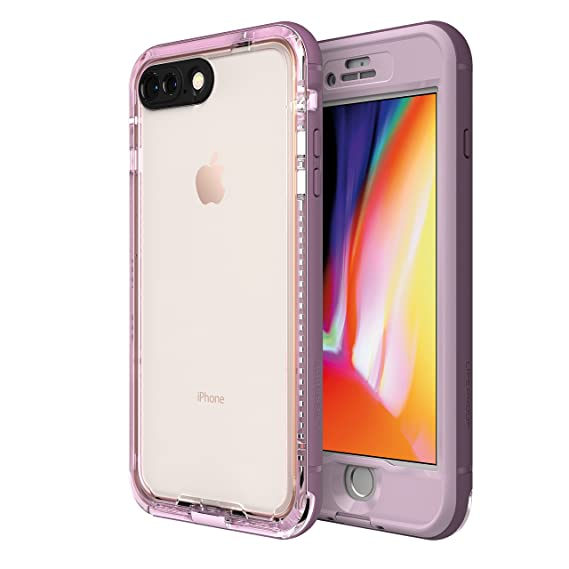 half off b9045 8b2bb LifeProof NÜÜD Series Waterproof Case for iPhone 8 Plus (ONLY) - Retail  Packaging - Morning Glory (WHINSOME Orchid/Smoky Grape)