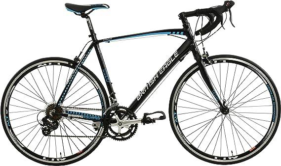 British Eagle Phantom - Bicicleta de Carretera, Color Negro/Azul ...
