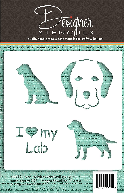 I Love My Lab Cookie and Craft Stencil by Designer Stencils