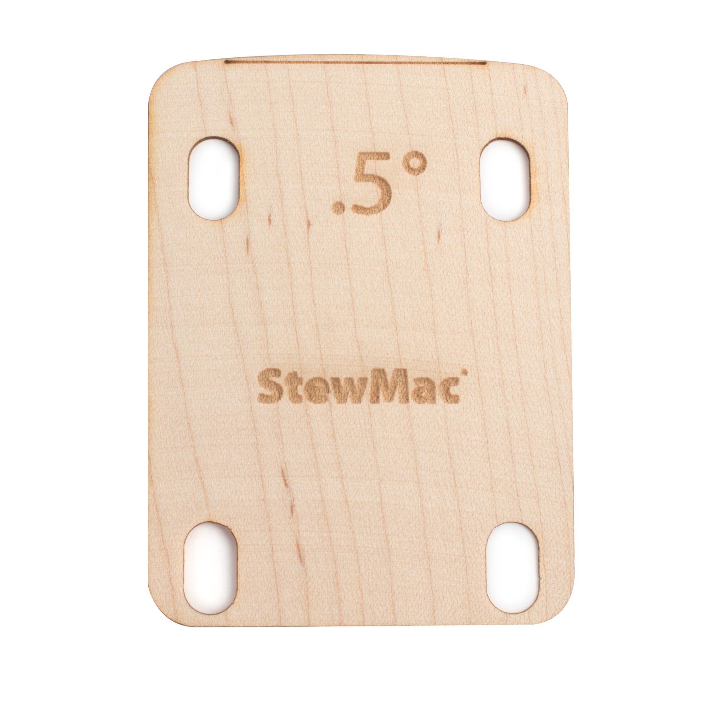 StewMac Neck Shims for Guitar, Shaped - 6 Pack of 0.50 Degree Shims