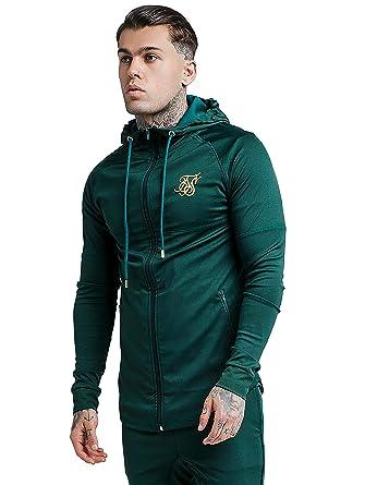 Sik Silk Chaqueta Hombre Verde M: Amazon.es: Ropa y accesorios