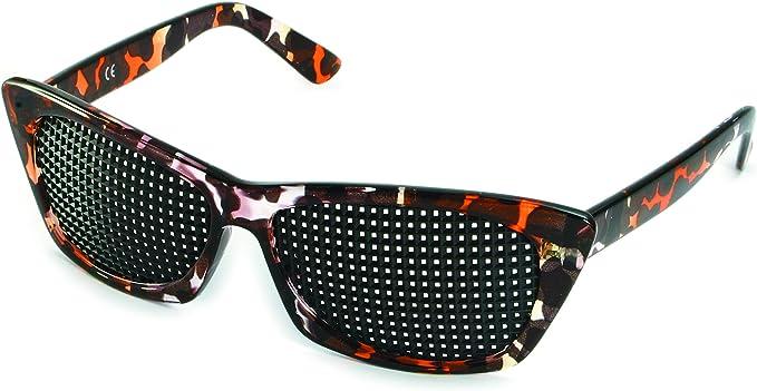Lunettes à Grille 415-FMP - de forme carrée grille - marron marbré - Incl. Accessoire