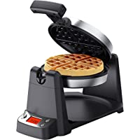 """Elechomes Flip Belgian Waffle Maker with LCD Display (1.4"""" Thick Waffles), 180° Rotating Waffle Iron, Digital Timer, Non…"""
