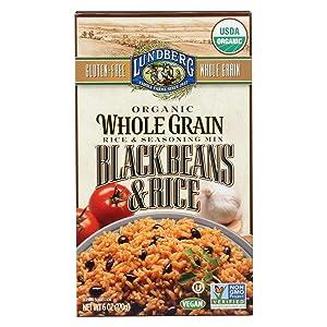 Lundberg Family Farms - Organic Whole Grain Rice & Black Beans, Cuban-Inspired Side Dish, Pantry Staple, 100% Whole Grain, Non-GMO, Gluten-Free, USDA Certified Organic, Vegan, Kosher (6 oz, 6-Pack)