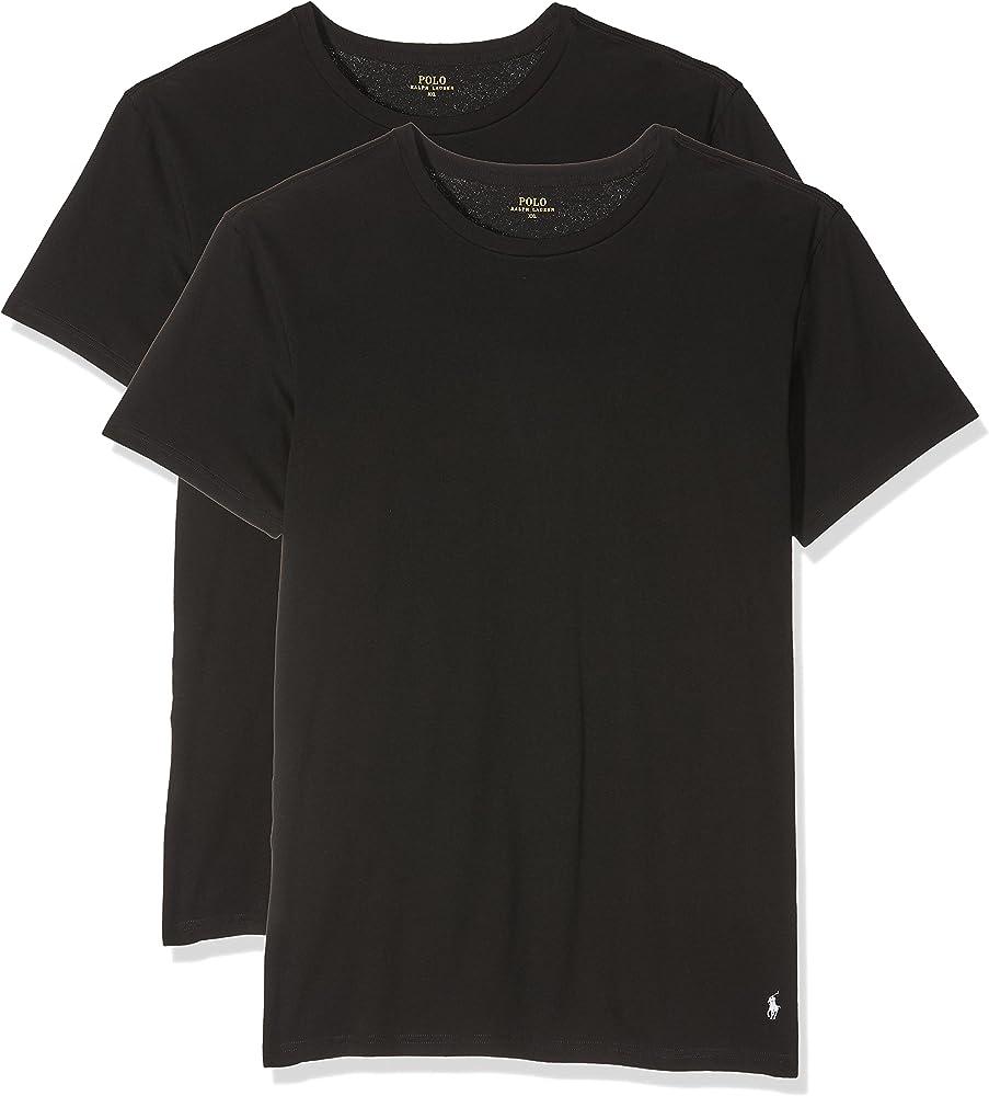 Ralph Lauren - Camiseta para hombre, Pack x 2, Negro (2Pk Polo ...
