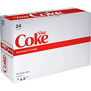 Diet Coke Soda Soft Drink, 12 fl oz, 24 Pack