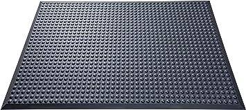 60x200 cm Schwarz-Gelb Anti-Erm/üdungsmatte Softer-Work-Mat Warnstreifen Arbeitsplatzmatte