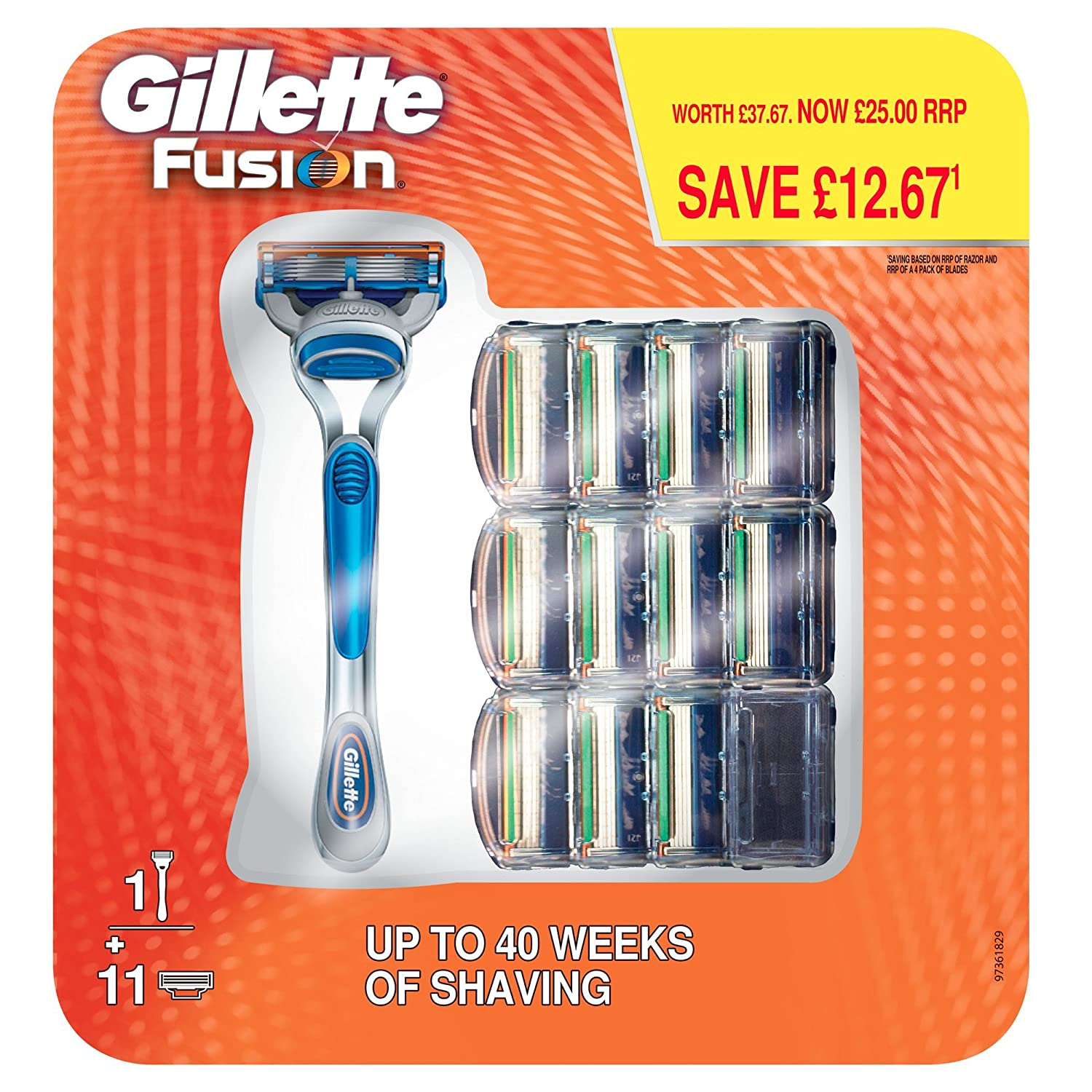 Gillette Fusion Manual Razor with 11 Razor Blades, Special Pack Procter & Gamble 81533771
