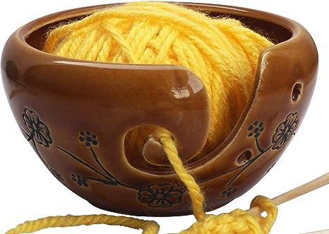 Ceramic Brown Yarn Bowl