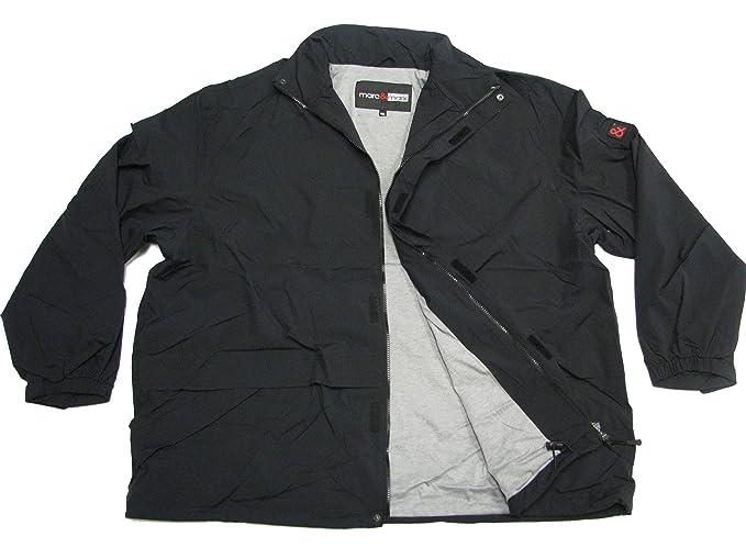 schwarz Leichte Regenjacke in großen Größen bis 12XL
