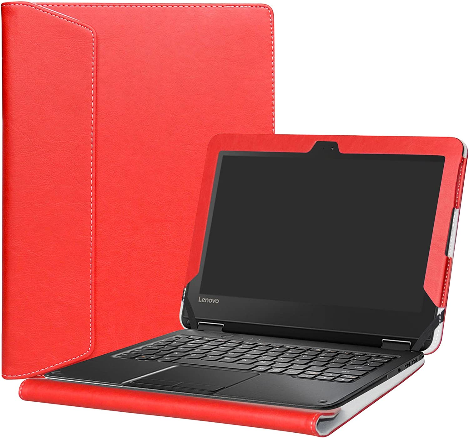 "Alapmk Protective Case Cover for 11.6"" Lenovo N24 Windows & Lenovo N23 Windows/Lenovo 300e Windows Laptop(Warning:Not fit Lenovo N23 Chromebook/N23 Yoga Chromebook/Lenovo 300e Chromebook),Red"