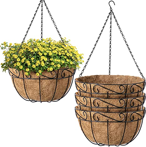 7.87 inch Wide Coconut Fibre Flower Hanging Planter and Wall Basket Liner Roll