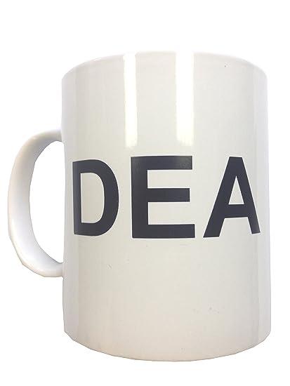 Taza de café Dea Hank Schrader Breaking Bad AMC de Lou ASAC de cerámica té TV