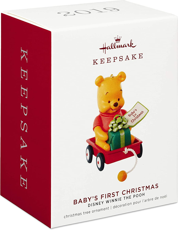 Hallmark Keepsake Ornament 2019 Year Dated Disney Winnie The Pooh Babys First Christmas