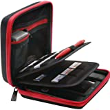 ButterFox BRENDO Nintendo 2DS Hard Case with 24 Game Holders - Black/Red