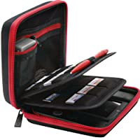 BRENDO Nintendo 2DS Hard Case with 24 Game Holders - Black / Red