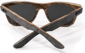 4EST Shades Stone Wood sunglasses - Polarized lenses in a one of a kind frame