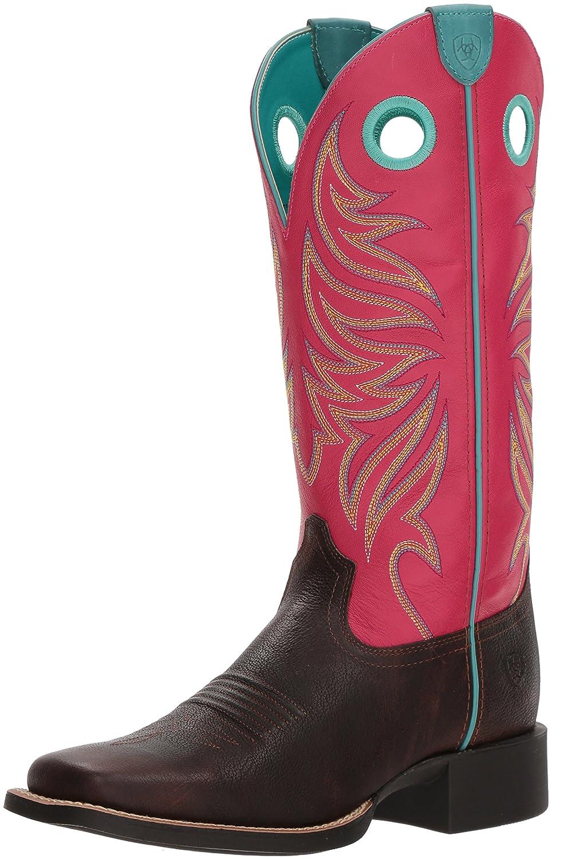 Ariat Women's Round up Ryder Western Boot B076MN98B6 8 B(M) US Yukon Chocolate/Magenta