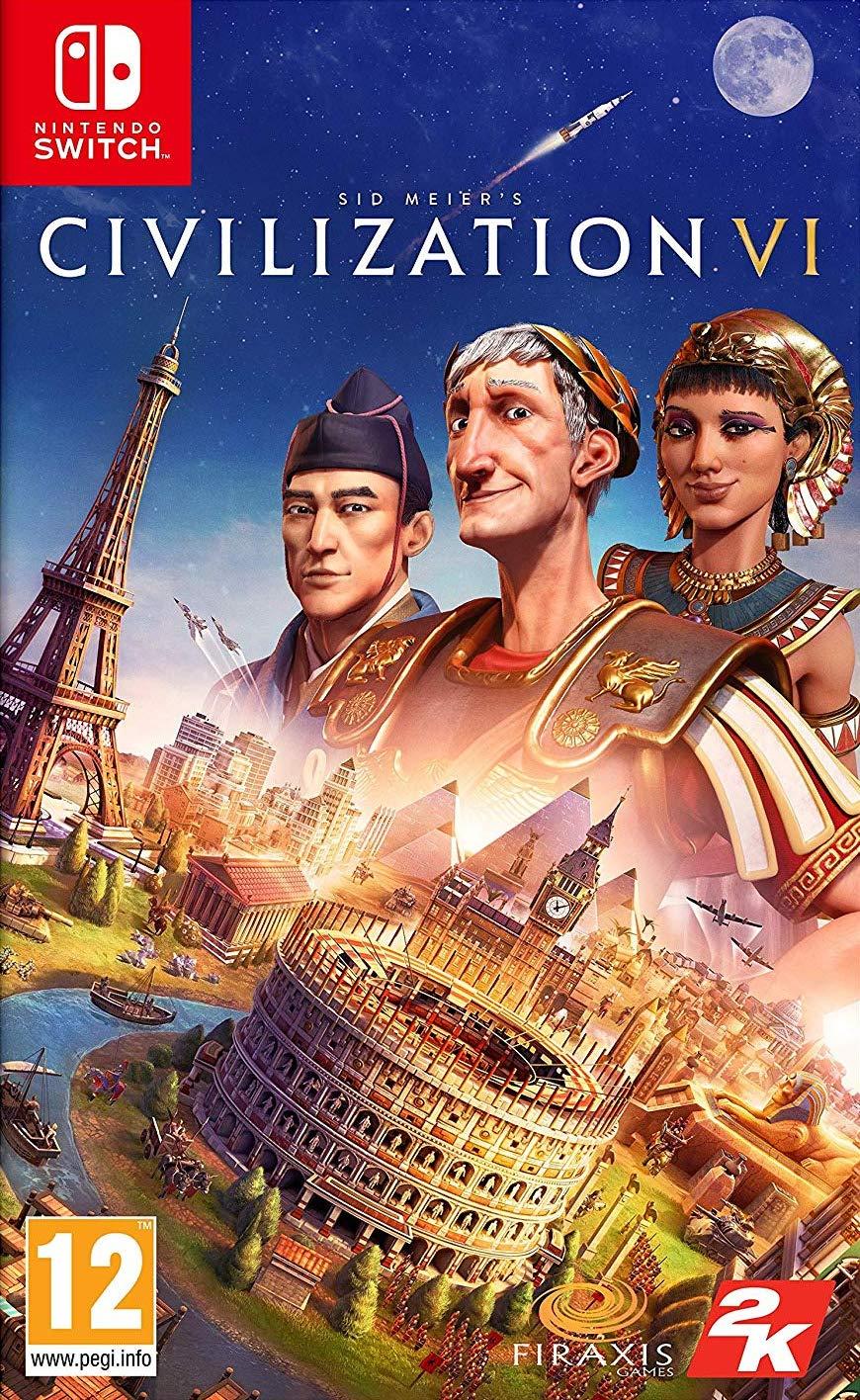 Resultado de imagen de portada Civilization VI Nintendo Switch