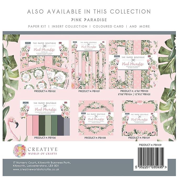The Paper Boutique - Panel de 7 x 7 paneles, color rosa paraíso: Amazon.es: Hogar
